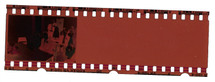 End of 35mm film strip, wedding photo.