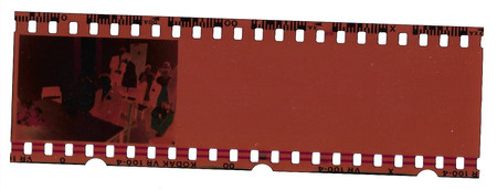 End of 35mm film strip, wedding photo.