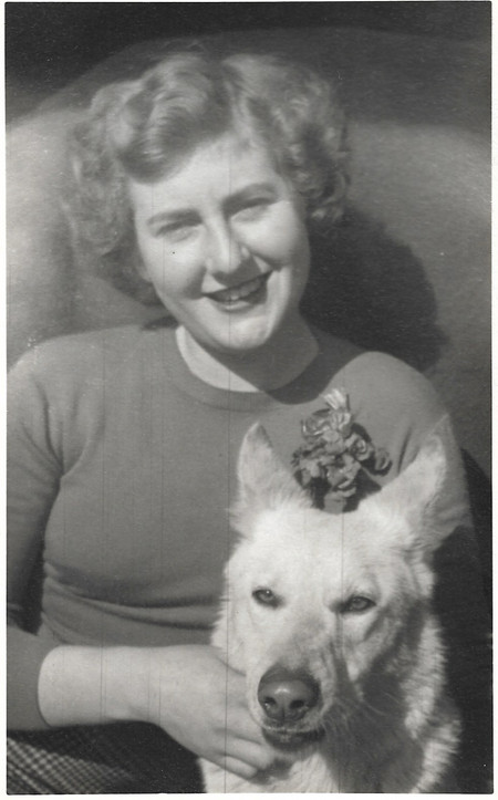 Portrait of Women and Dog