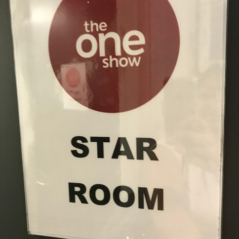 Noah is in the 'Star' Dressing room