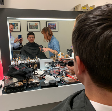 Make-up before going on