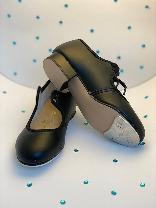 Children's Katz Low Heel PU Black Tap Shoe