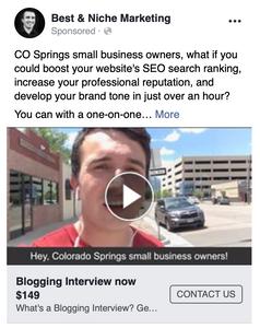 Best and Niche Marketing blogging ad