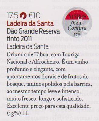 GR 2011 na Revista de Vinhos