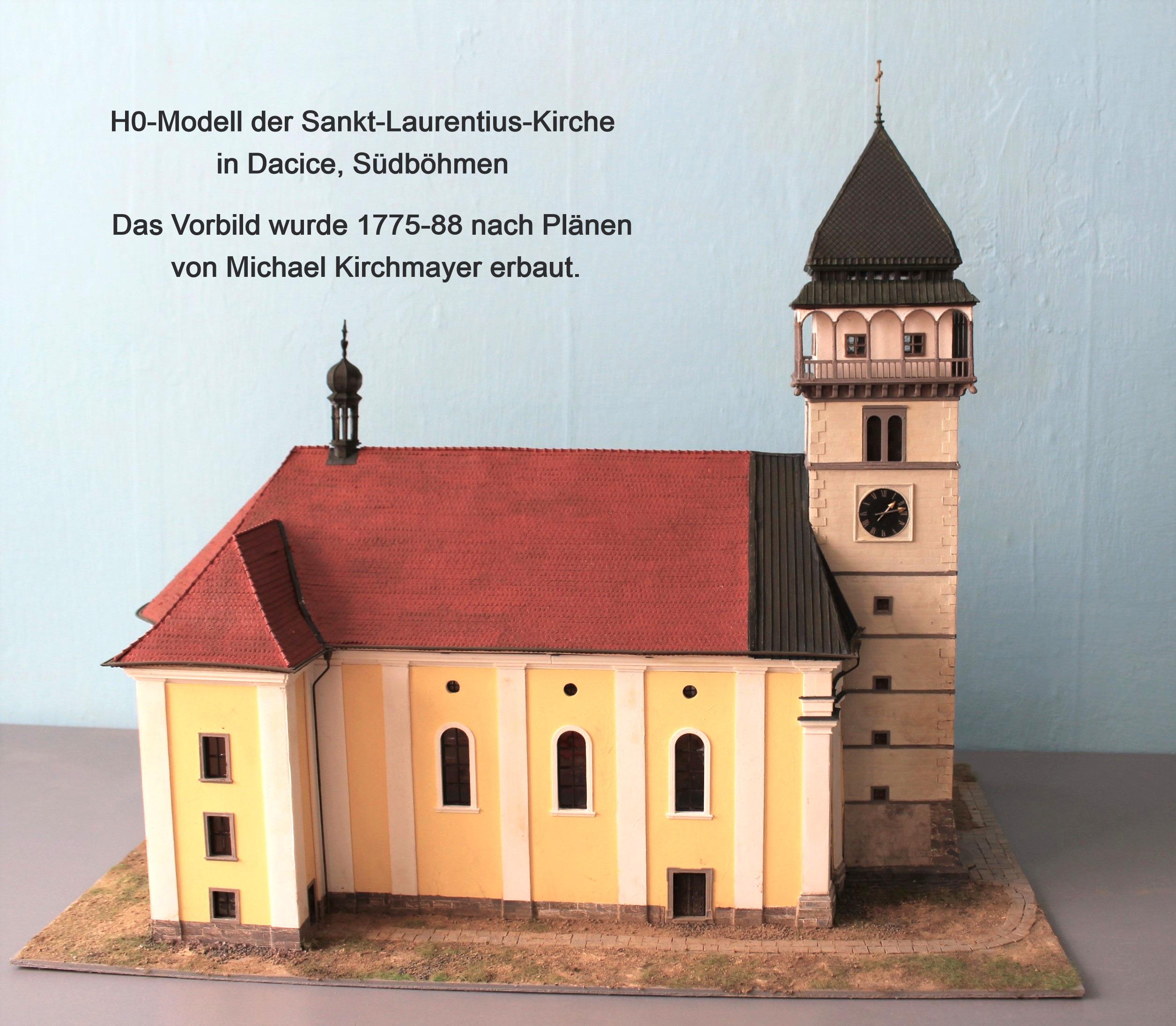 Modell der Kirche von Dacice