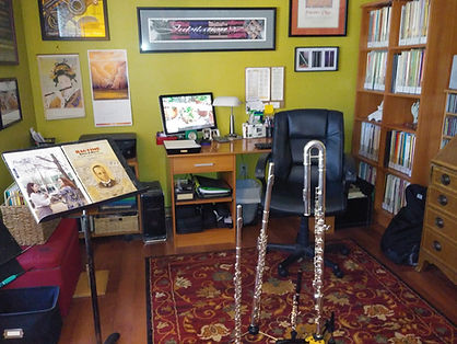 MusicSmiths Flute Studio -- wide view Ma