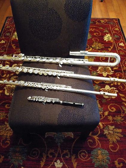 MusicSmiths Flute Studio -- 4 flutes