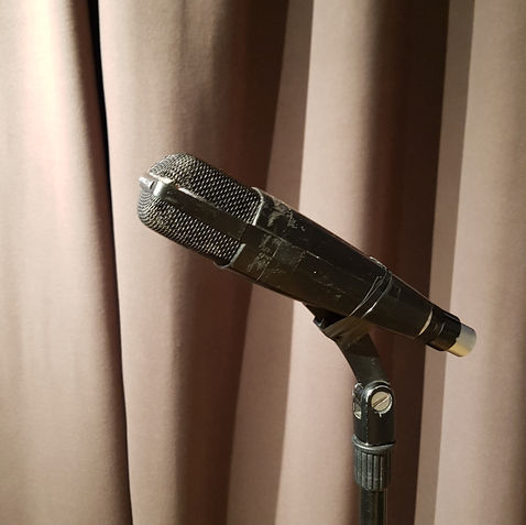 a collection of high-end vintage mics
