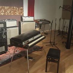 een collectie vintage amps (Fender - Musicman - Gibson)