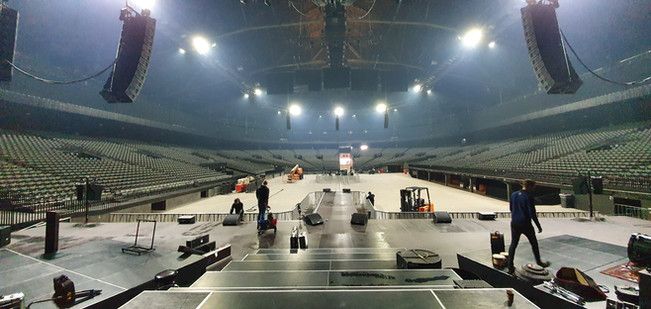 prepping Sportpaleis
