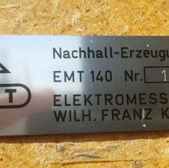 EMT140: De iconische plate reverb. in perfecte volledig werkende staat.
