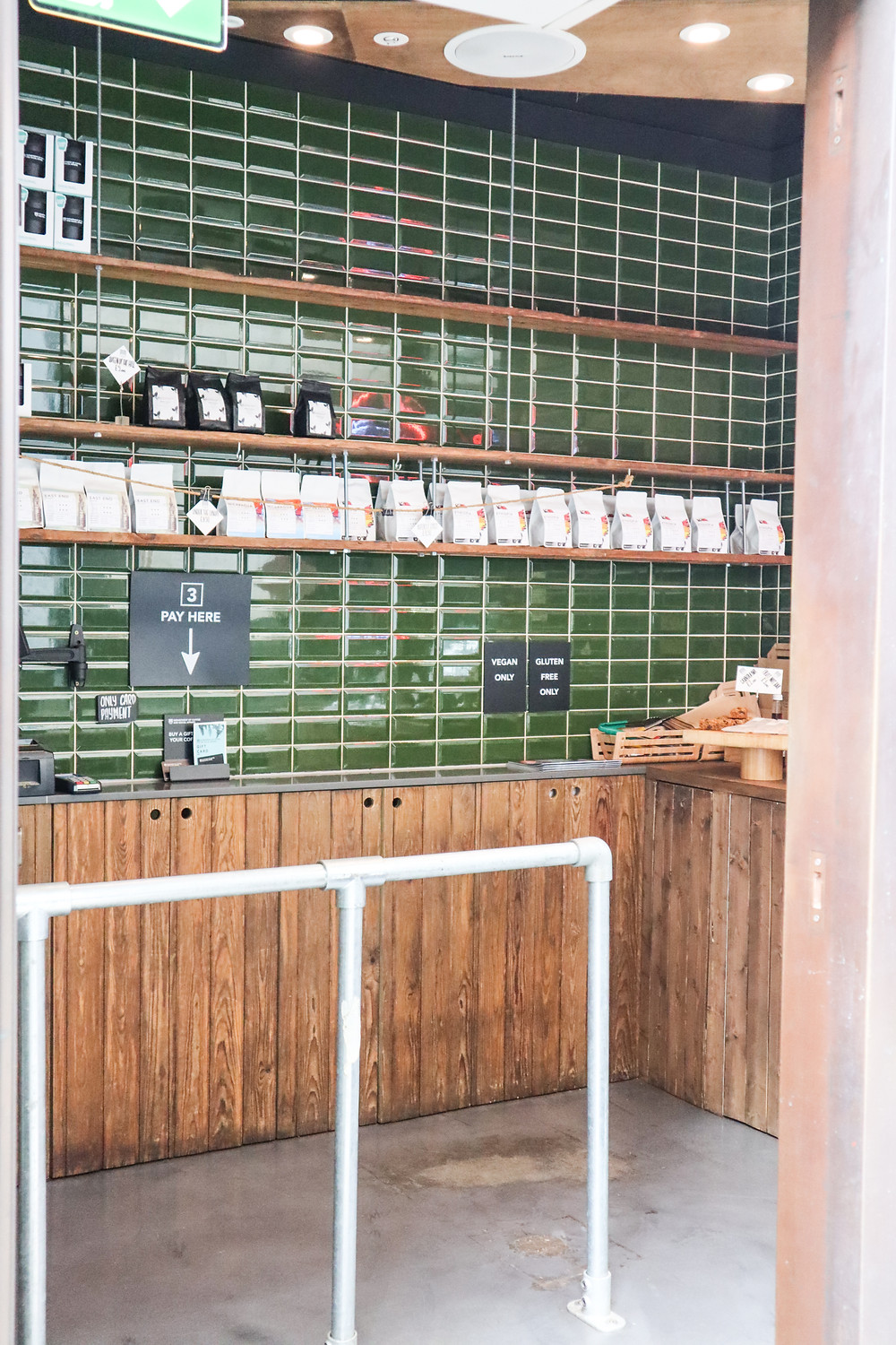 Entrance with coffee available for purchase