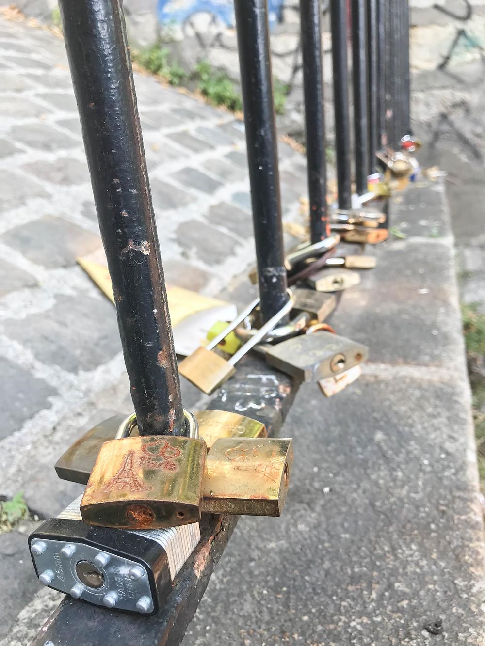 Love Locks, Montmartre, Paris, France