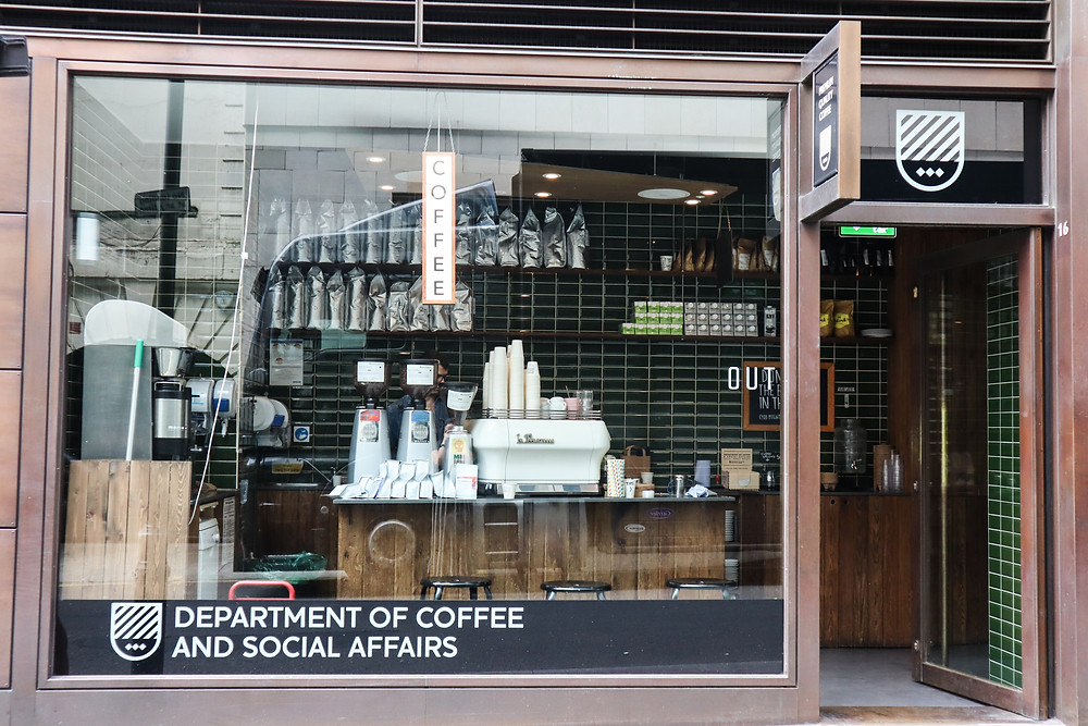 Exit, Department of Coffee and Social Affairs