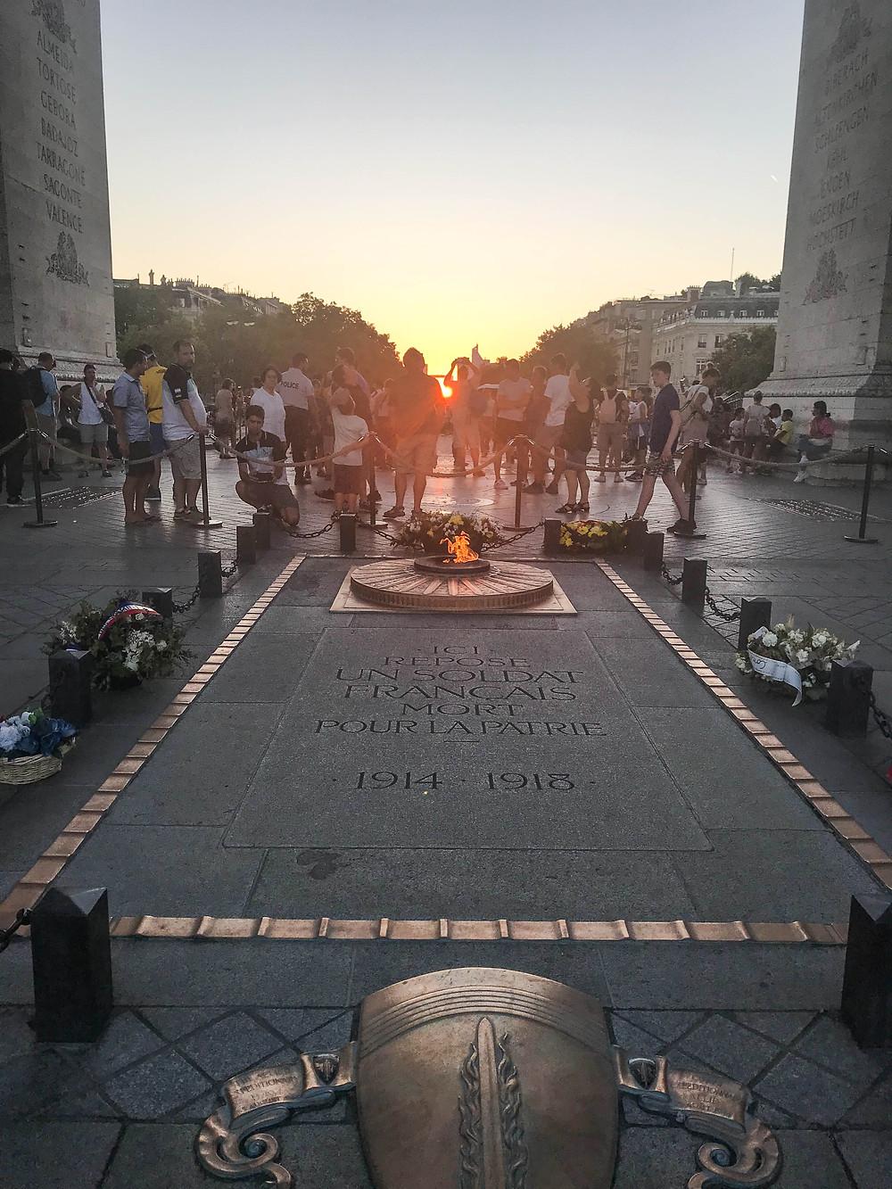 Arc de Triomphe, Memorial Flame