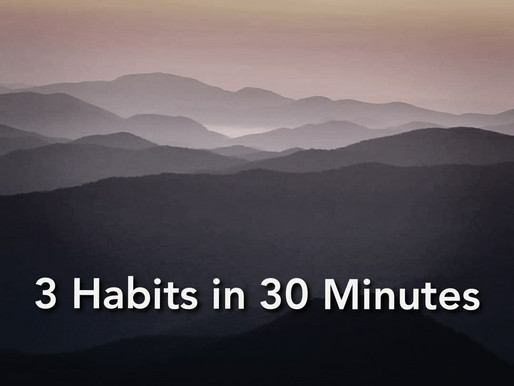 3 Habits in 30 minutes that will Change Your Life