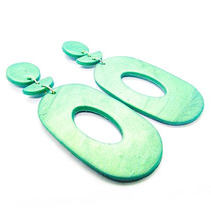 Aros Cocó Verde petróleo metalizado