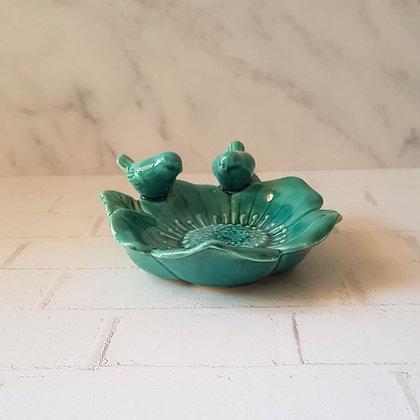 Plato cerámica flor girasol