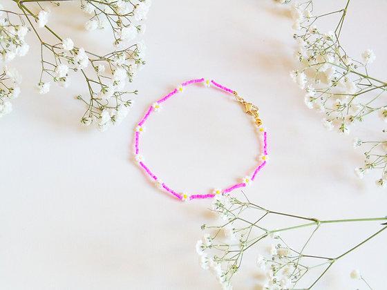 Tobillera Pink Flower