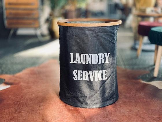 Canasto Laundry service redondo negro