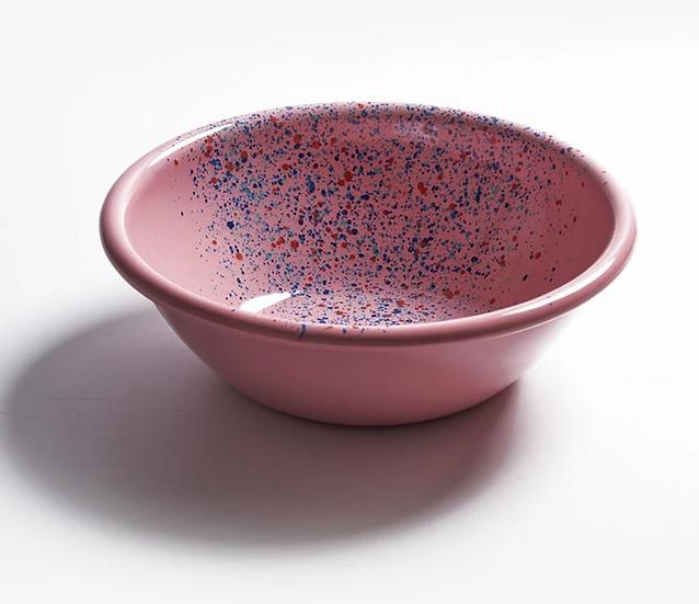 Bowl M enlozado rosado