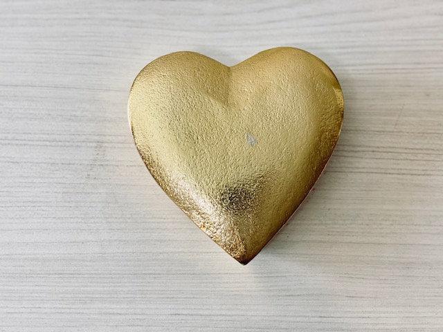 Cofre corazón dorado grande