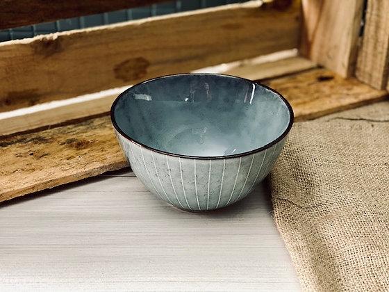 Bowl gris rayas exterior