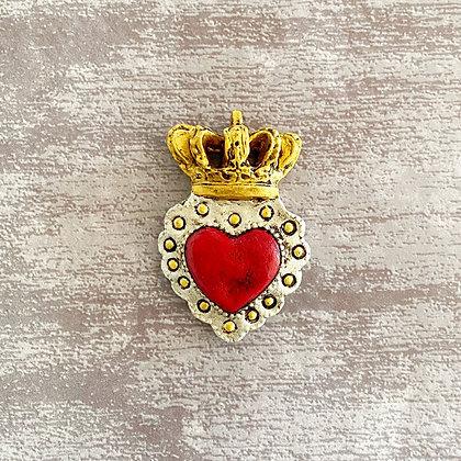 Corazón corona dorada