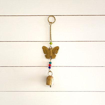 Colgante mariposa corto
