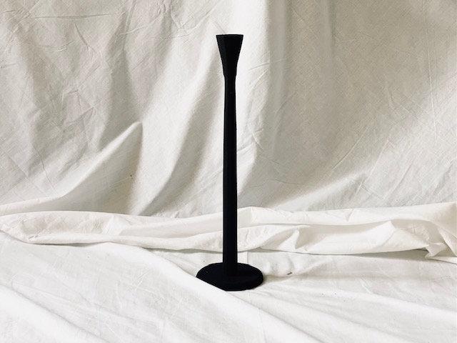 Candelabro bajo negro 1 vela