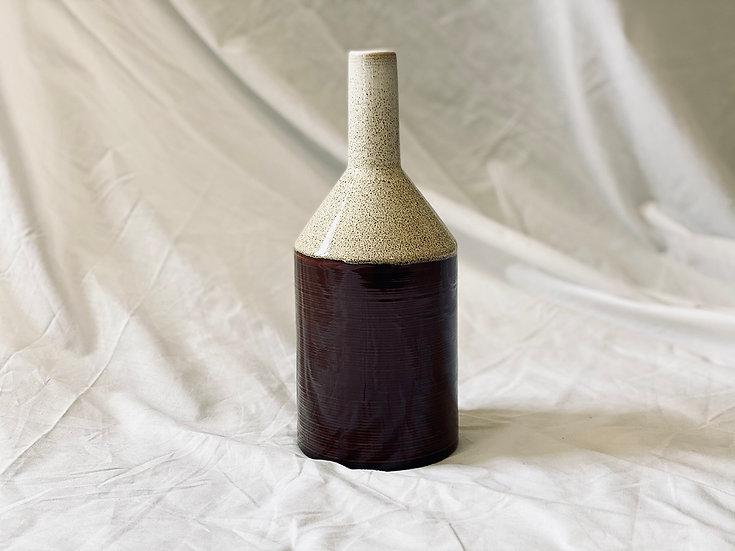 Botella bicolor M crema