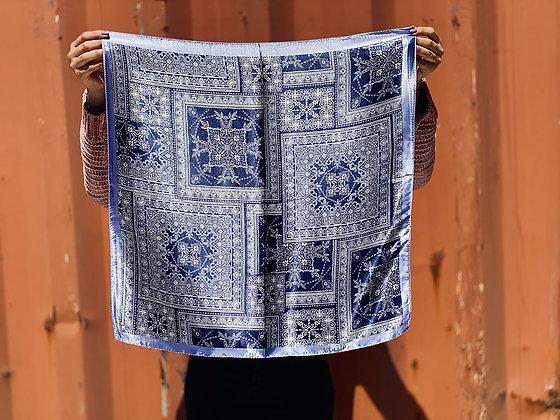 Pañuelo estampado Blanco/Azul