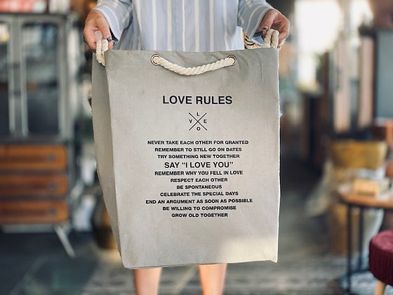 Bolsa Love rules Gris cordón