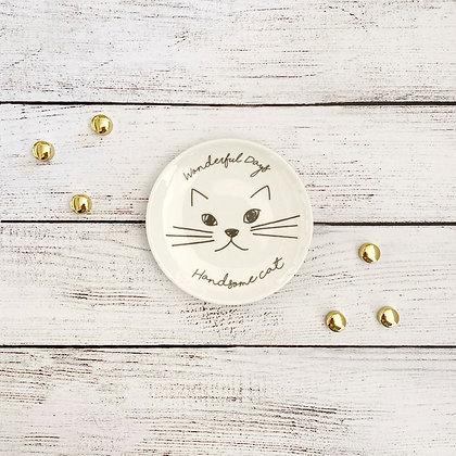Platito gato blanco