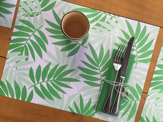Pack Individual hojas verdes papel 20 un