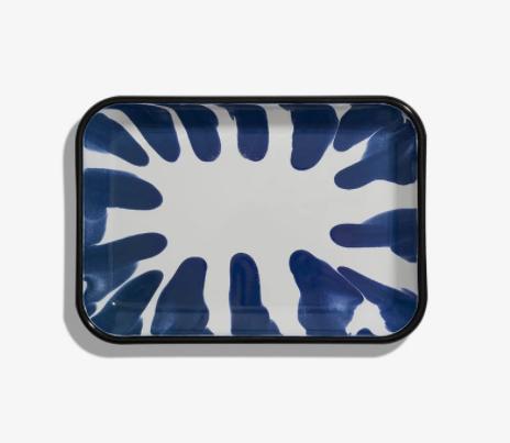 Bandeja fuente rectangular Enlozado Azul