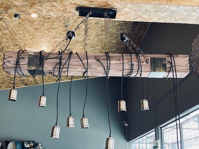Lámpara tronco XL 10 luces
