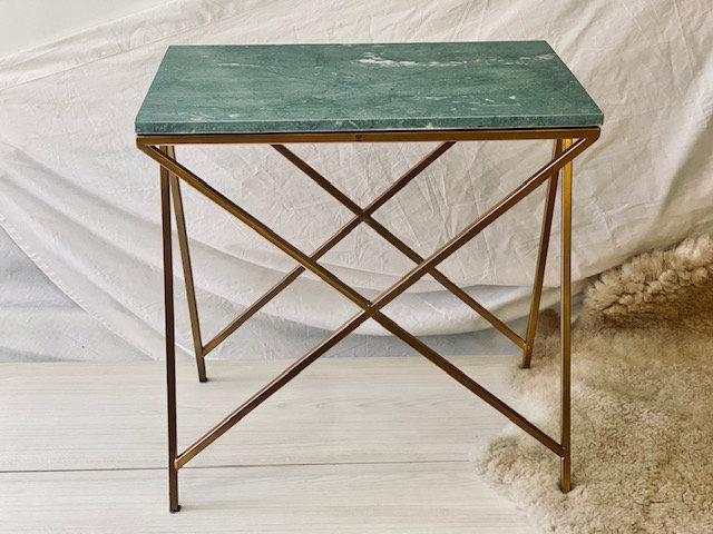 Mesa lateral mármol dorado verde