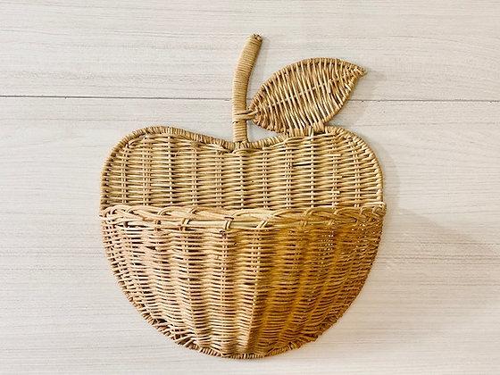 Mini repisa manzana mimbre