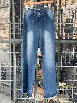 Jeans Palazzo azul talla M/40