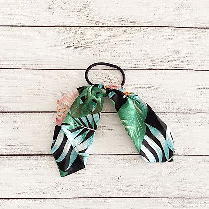 Colet cinta flores negro verde