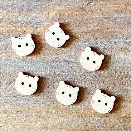 Pack 6 botones gato