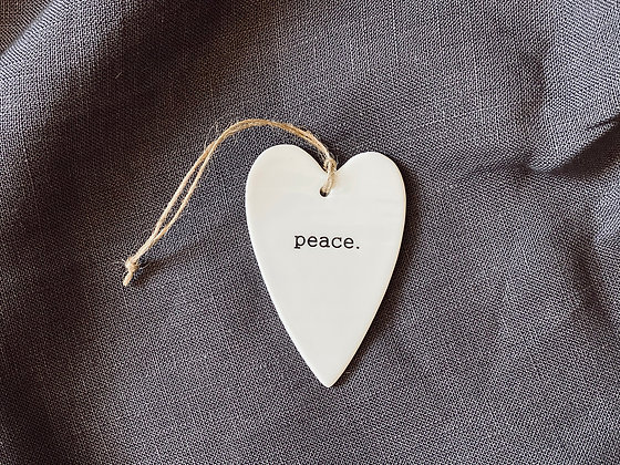 Colgante corazón Peace
