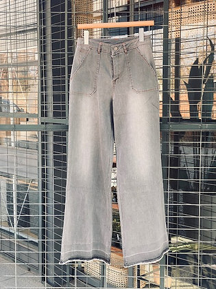 Jeans Palazzo gris talla S/38