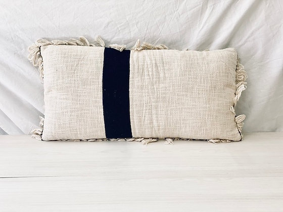 Cojín tejido rectangular línea azul 35x65 cm
