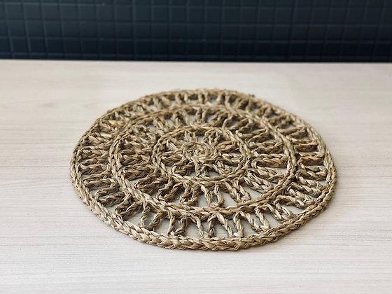 Individual fibra diseño sol Ø 37 cm
