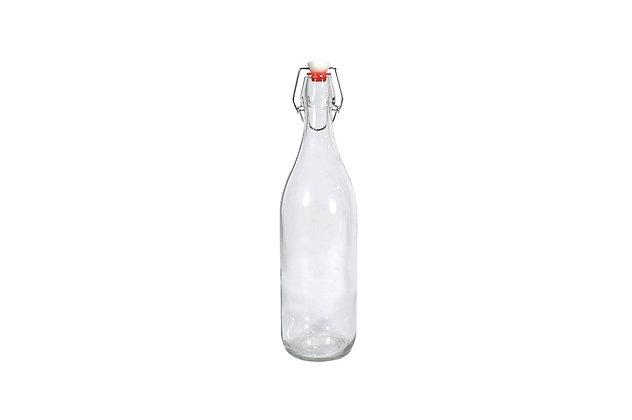 Botella Vidrio tapa de goma