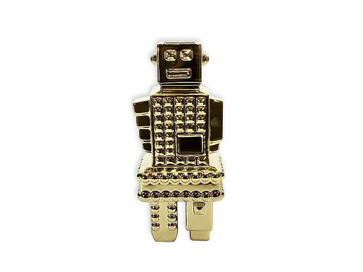 Robot Dorado cerámica