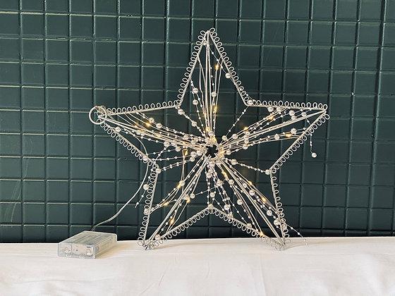 Estrella Plateada con luces