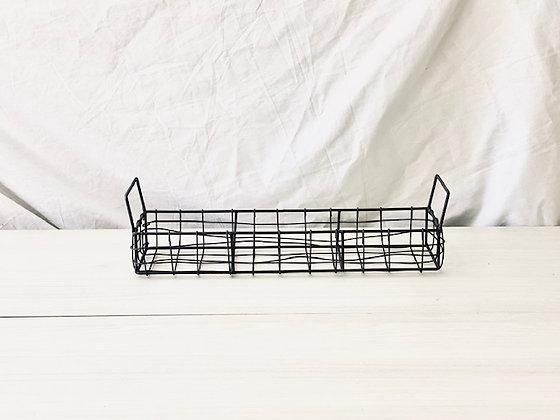 Bandeja canasto alambre alargada 41 cm